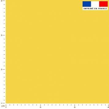 Tissu imperméable jaune citron uni