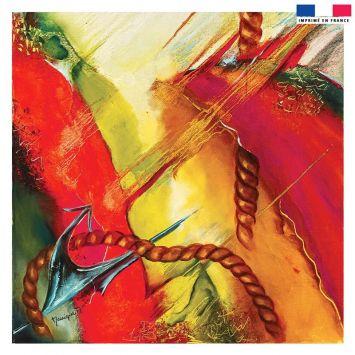Coupon 45x45 cm Ancre - Création Monique.D