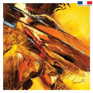 Coupon 45x45 cm Jaillissement - Création Monique.D