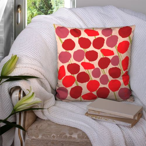 Coupon 45x45 cm motif coquelicots - Fond - Création Chaylart