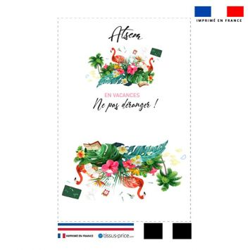 Kit pochette motif ATSEM en vacances
