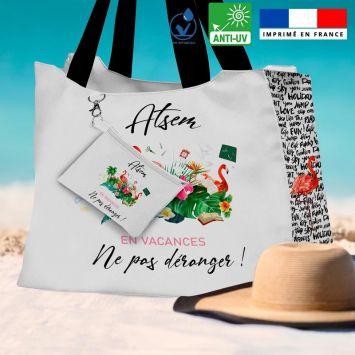 Kit sac de plage imperméable motif ATSEM en vacances - King size