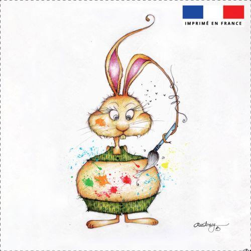 Coupon motif lapin peinture - Création Audrey Baudo