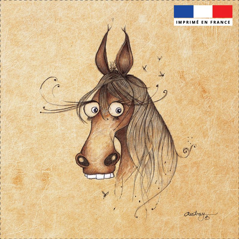 Coupon toile canvas cheval - Audrey Baudo