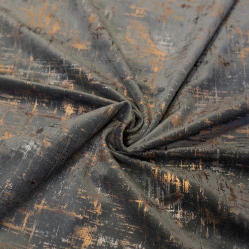 Tissu velours frappé Astral gris souris Oeko-tex