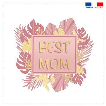 Coupon 45x45 cm motif best mom pink & gold
