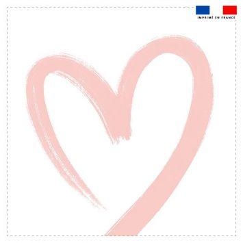 Coupon 45x45 cm motif cœur rose