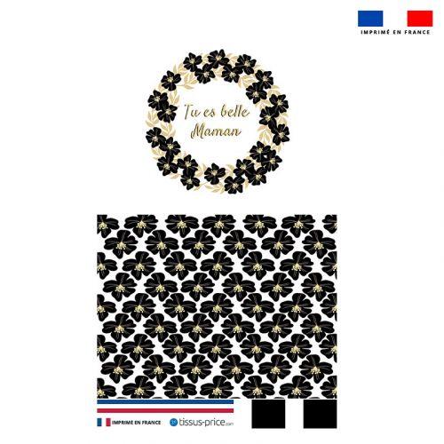 Kit pochette noire motif tu es belle maman