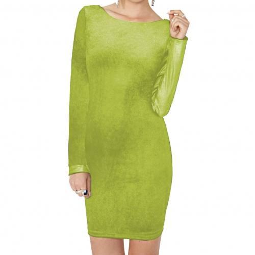 Panne de velours vert jade