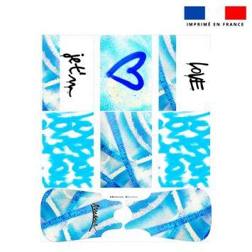 Coupon motif graffiti bleu - Gigoteuse et Tour de Lit - Création Alex Z