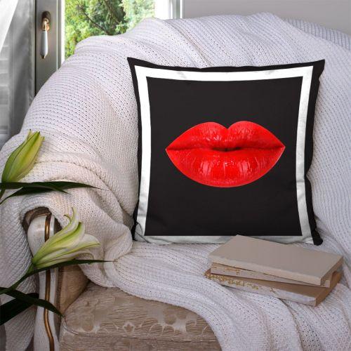 Coupon 45x45 cm motif lèvres rouges