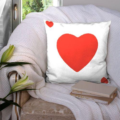 Coupon 45x45 cm motif as de coeur
