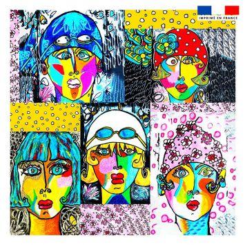 Coupon 45x45 cm Femmes modernes - Création Razowsky
