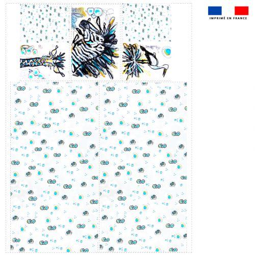 Coupon velours d'habillement pour vide-poches motif animaux - Création Razowsky