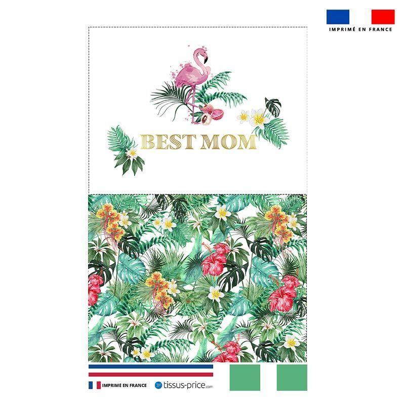 Kit pochette blanche motif maman exotique