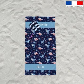 Coupon éponge pour serviette de plage simple motif summer rex