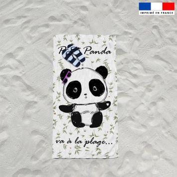 Coupon éponge pour serviette de plage simple motif panda