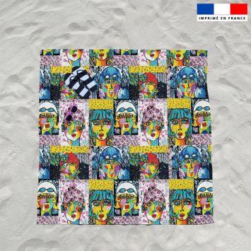 Coupon éponge pour serviette de plage double motif femmes modernes - Création Razowsky