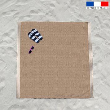 Coupon éponge pour serviette de plage double texture rotin
