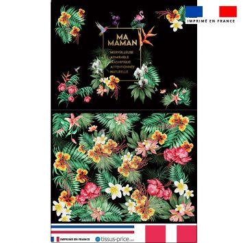 Kit pochette noire motif acrostiche maman exotique