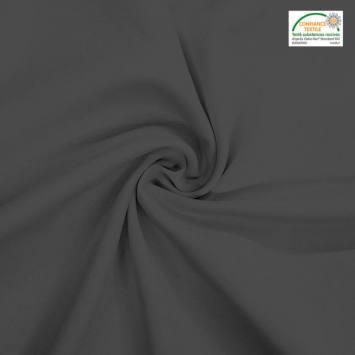 coupon - Coupon 95cm - Burlington infroissable Oeko-tex gris foncé