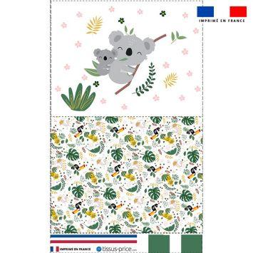 Kit pochette motif baby koala
