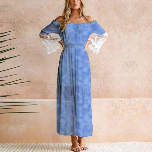 Tie and dye effet aquarelle - Fond bleu jean