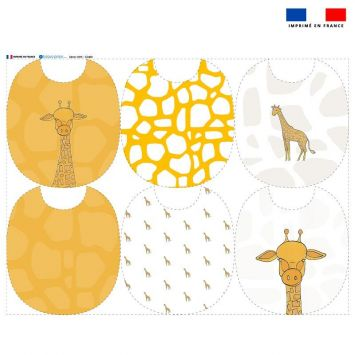 Kit bavoirs en éponge X6 girafe - Création Anne Clmt