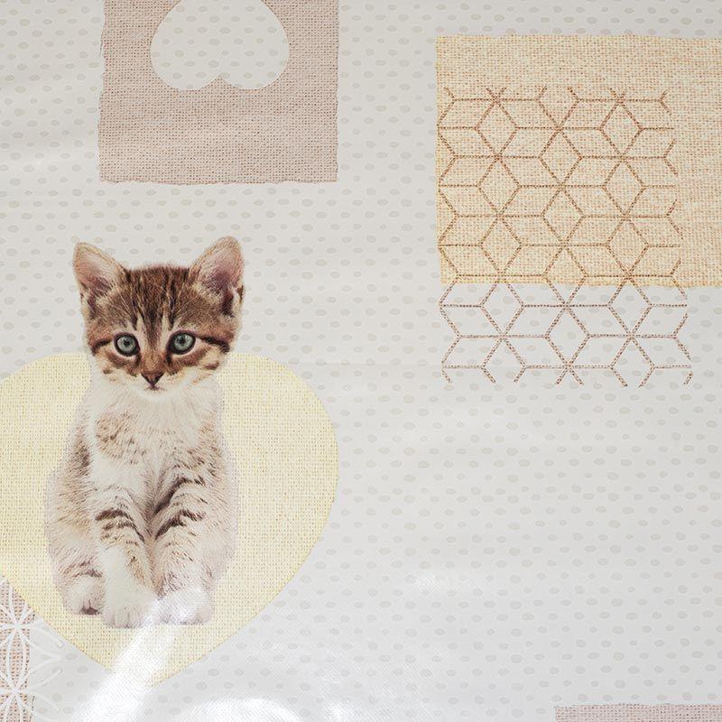 Toile cirée motif chaton