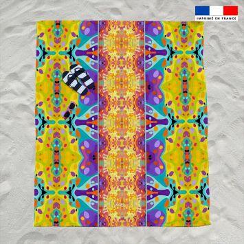 Coupon éponge pour serviette de plage double motif summer et sphères - Création Lita Blanc