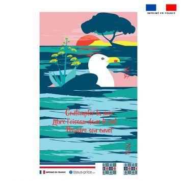 Kit pochette motif mouette - Création Chaylart