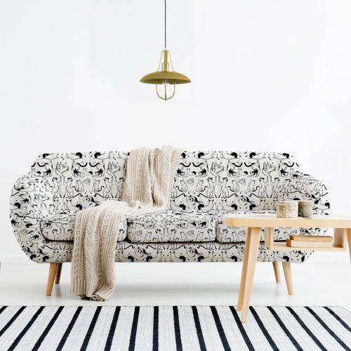 Chats - Fond blanc - Création Pilar Berrio