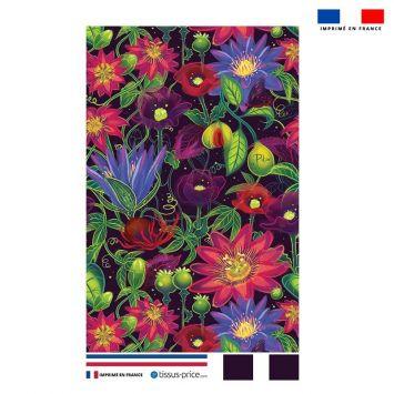 Kit pochette motif flowers rouges - Création Pilar Berrio