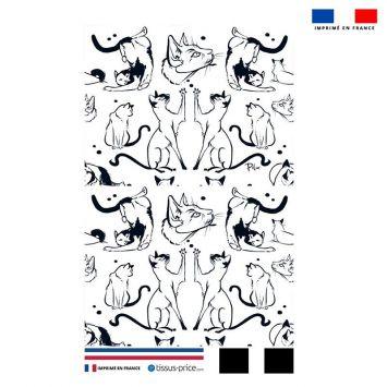 Kit pochette motif chats - Création Pilar Berrio