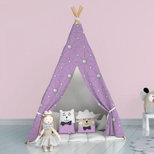 Perles - Fond violet