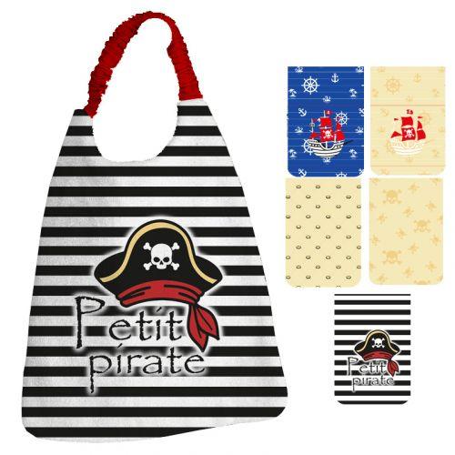 Lot de 5 coupons éponge pour serviettes de table pour enfant motif pirate