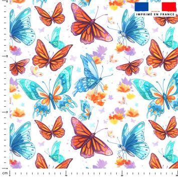 Papillons - Fond blanc - Création Pilar Berrio