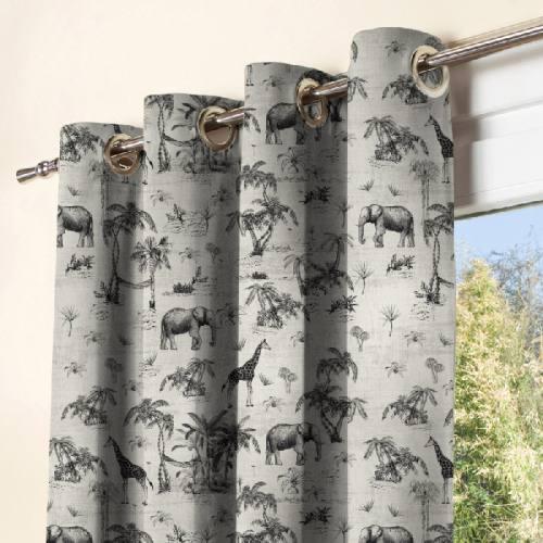 coupon - Coupon 195cm - Savane noire - Fond blanc - Toile canvas 316 gr/m² - 150 cm