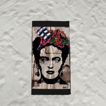 Coupon éponge pour serviette de plage simple motif femme mexicaine - Création Anne-Sophie Dozoul