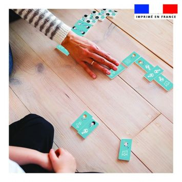 Patron imprimé pour jeu de dominos motif football