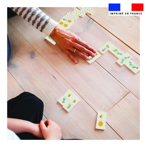Patron imprimé pour jeu de dominos motif animaux en vacances