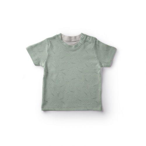 Jersey coton vert imprimé feuilles Oeko-tex
