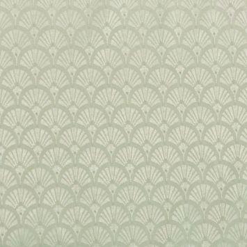 Tissu jacquard éventail grège oeko tex anti-tâches