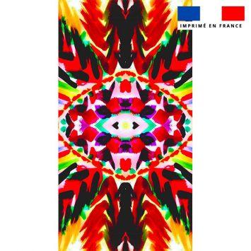 Coupon éponge pour serviette de plage simple motif ethnique - Création Jeanne Garreau