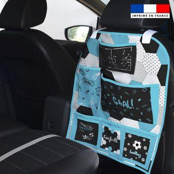 Patron pour organisateur de voiture motif football + Kit pochette Offert