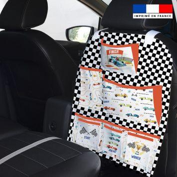 Patron pour organisateur de voiture motif course de voiture + Coupon pochette Offert