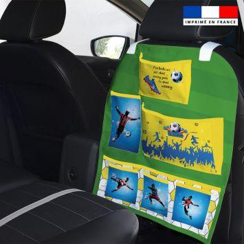 Patron pour organisateur de voiture motif football championship + Coupon pochette Offert