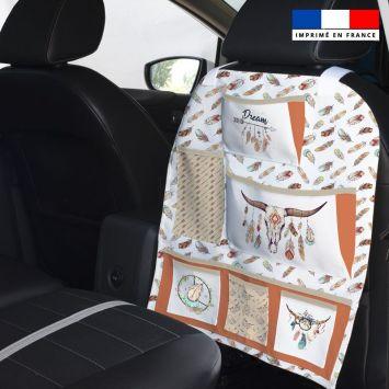 Patron pour organisateur de voiture motif boho + Kit pochette Offert