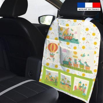 Patron pour organisateur de voiture motif animaux en vacances + Kit pochette Offert