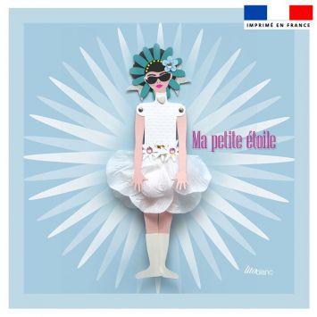 Coupon 45x45 cm motif ma petite étoile - Création Lita Blanc
